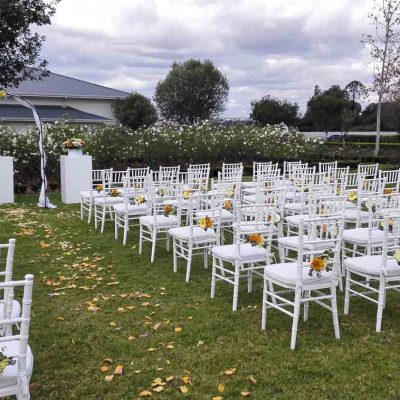 Wedding - Rose Garden view