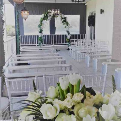Wedding ceremony - patio