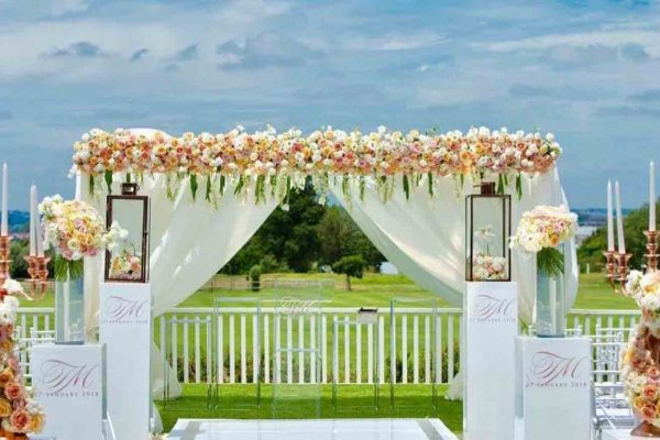 Wedding ceremony - view of field